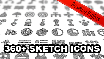Deal 6 - Sketch icons with Resell Rights