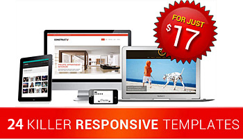 24 Awesome Responsive HTML5 Templates - for as low as $17!