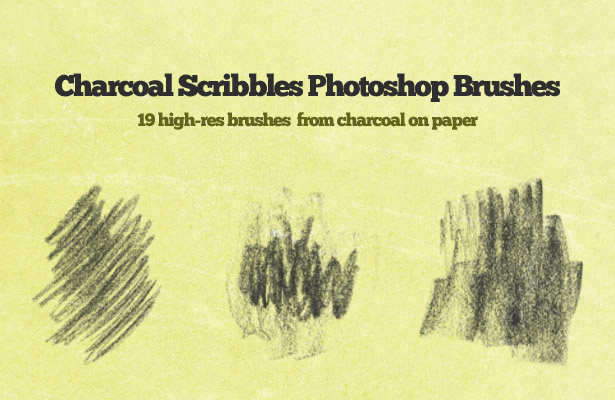 Charcoal Scribbles Brushes