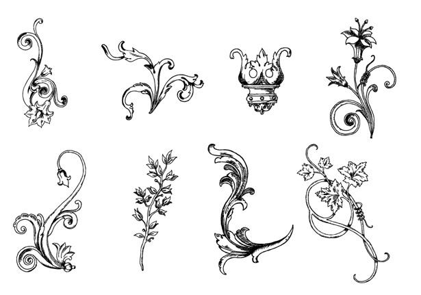 Hand-Drawn Floral Vectors