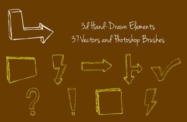 Hand-Drawn 3D Elements