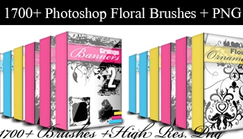 Floral Brushes with High Resolution PNG