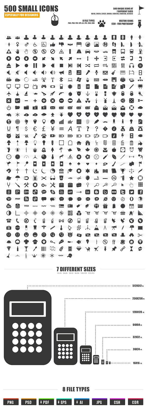 500 small icons