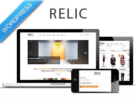 Relic - clean WP theme with eCommerce
