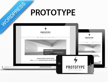 Prototype - premium minimalistic WP theme