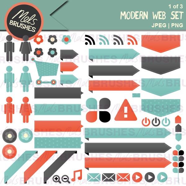 Modern Web set by Mels Brushes