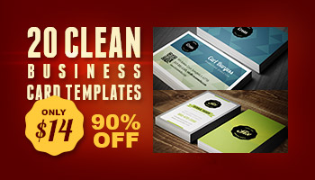 20 Clean Business Card Templates for only $14 - 90% Off