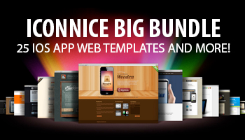 IconNice Big Bundle -  25 iOS app web templates and more!