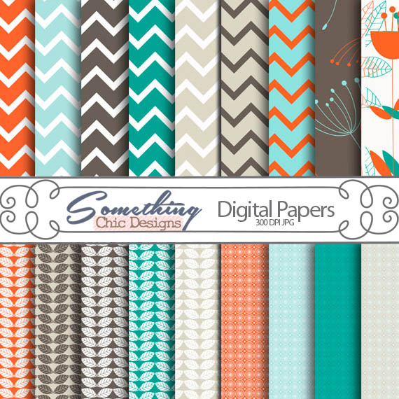 SeaGlass Digital Backgrounds by Something Chic Designs