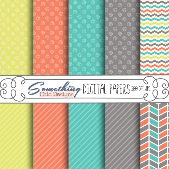Zipped Up Summer Digital Backgrounds