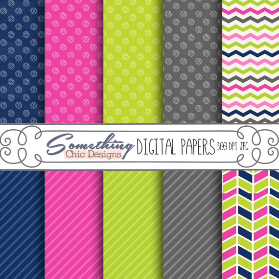 Zipped up Trendy Digital Backgrounds by Something Chic Designs