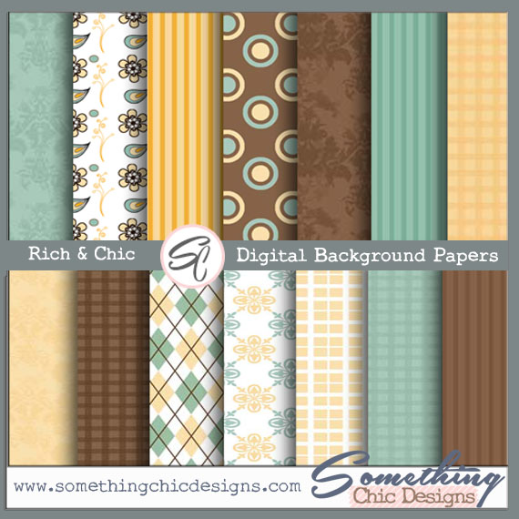 Rich & Chic Digital Backgrounds by Something Chic Designs