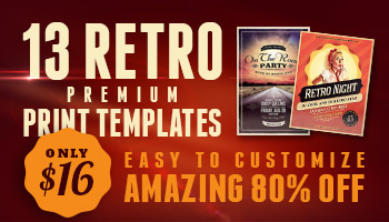 Retro Print Templates vol.2 - 80% Off