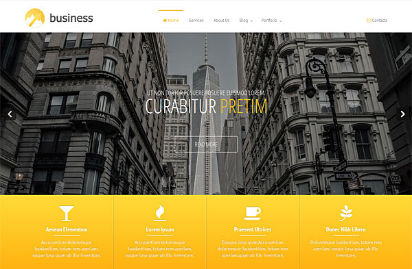 premium business bootstrap template