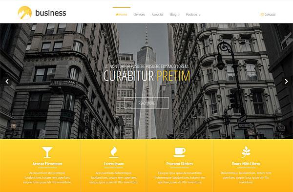 premium business bootstrap template