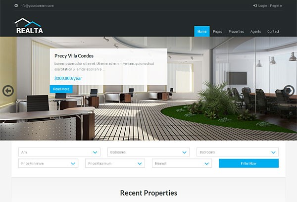 real estate responsive html theme