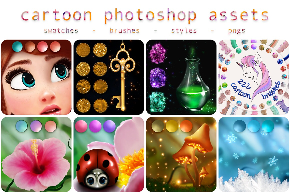 Cartoon Assets for Photoshop - only $9
