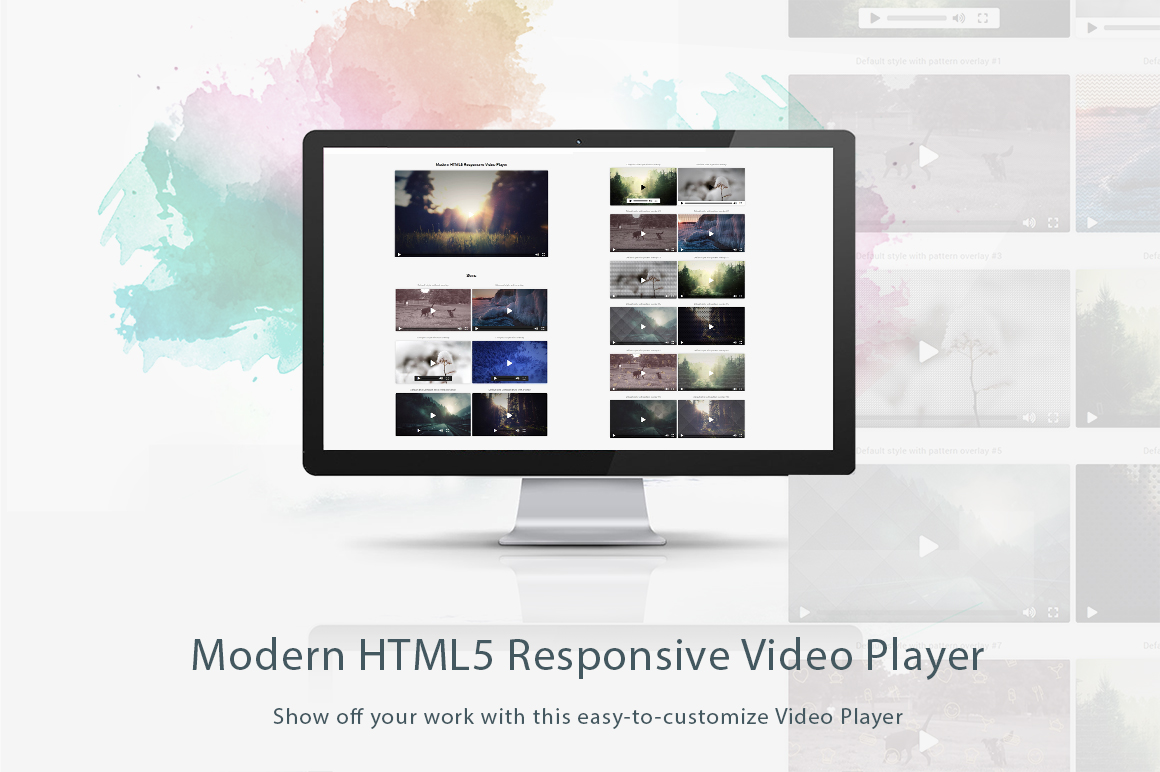 Modern and Responsive HTML5 Video Player
