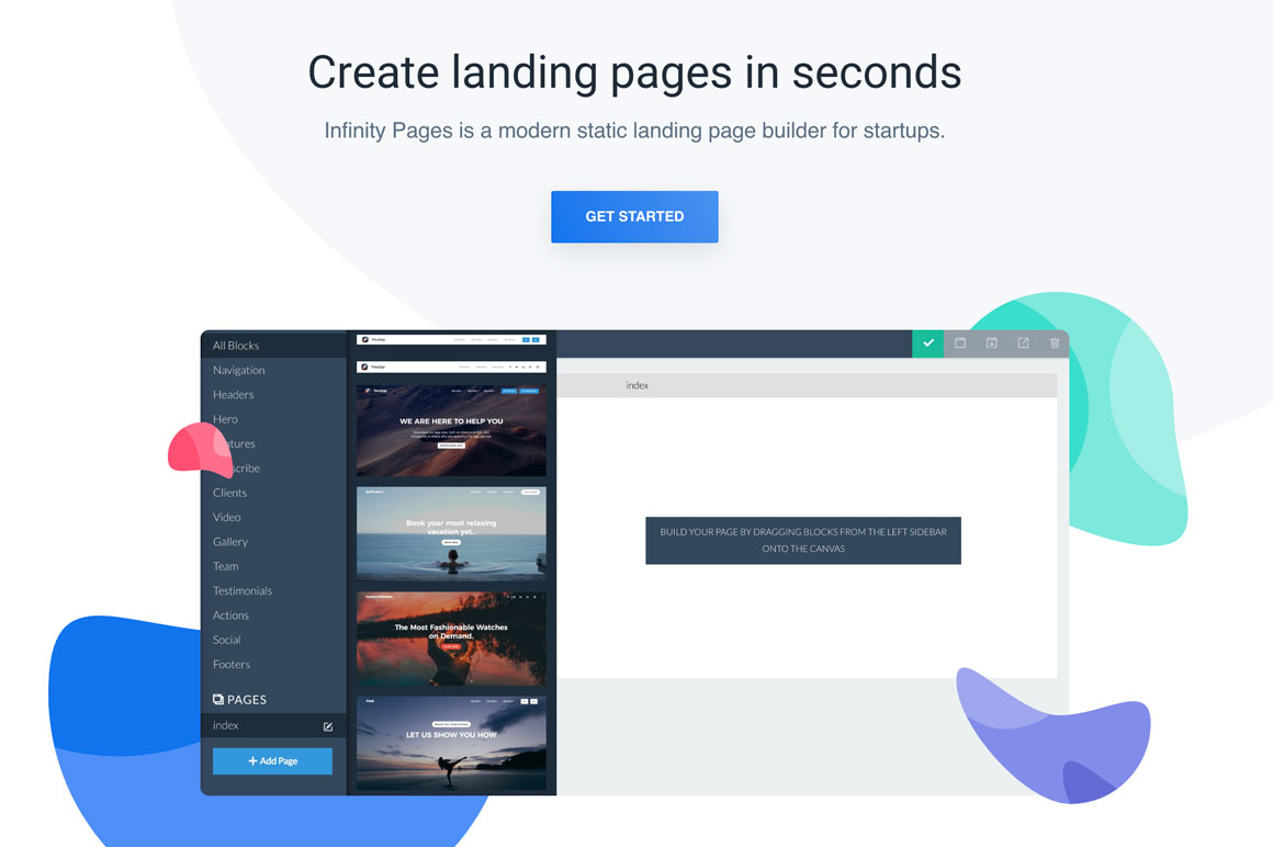 LIFETIME DEAL - Infinity Pages - Create landing pages in seconds