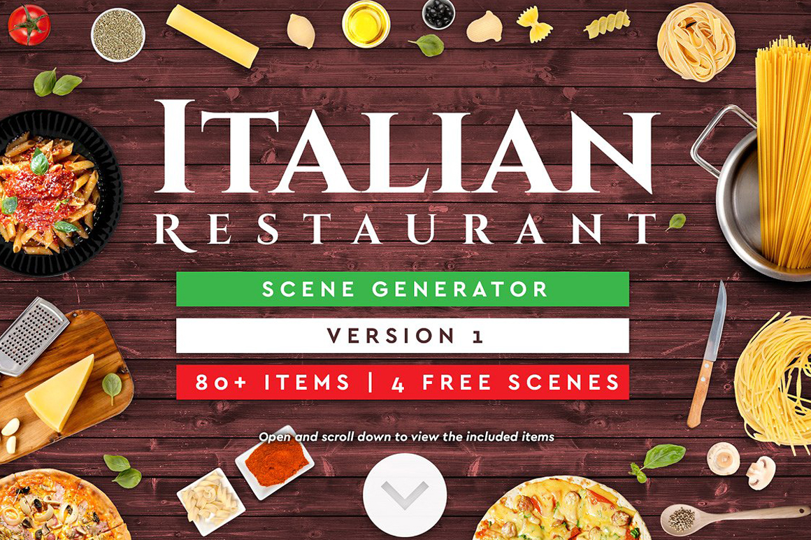 Italian Restaurant Mock-up and Scene Generator