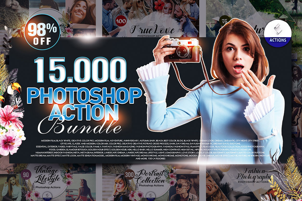 Mega Giant Bundle! 15.000 Photoshop Actions