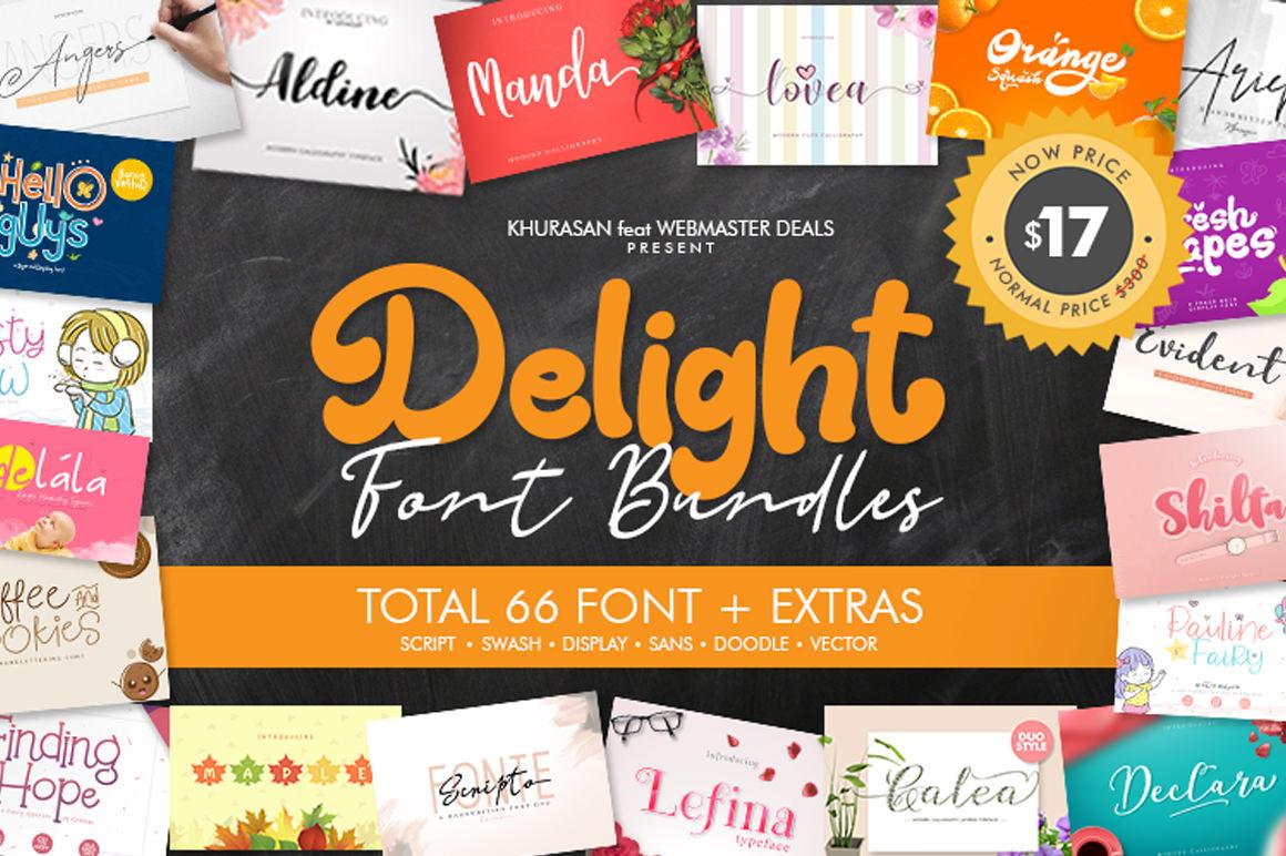 The Delight Font Bundle