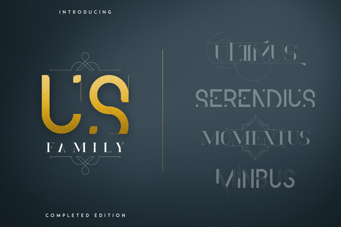 US Family Fonts - Complete Edition