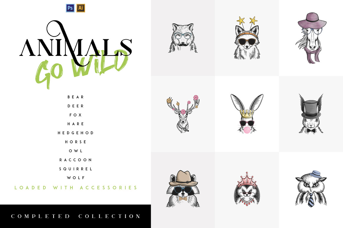 Animals Go Wild - Completed Collection