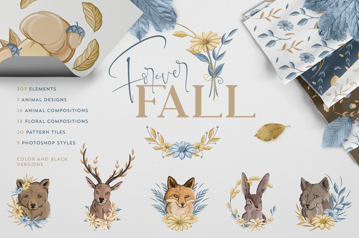 Forever Fall Graphics Bundle - 500+ objects