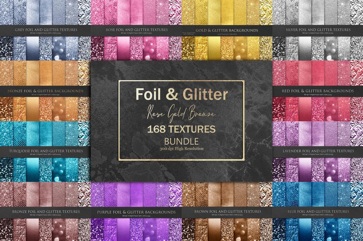 Foil and Glitter Textures Bundle