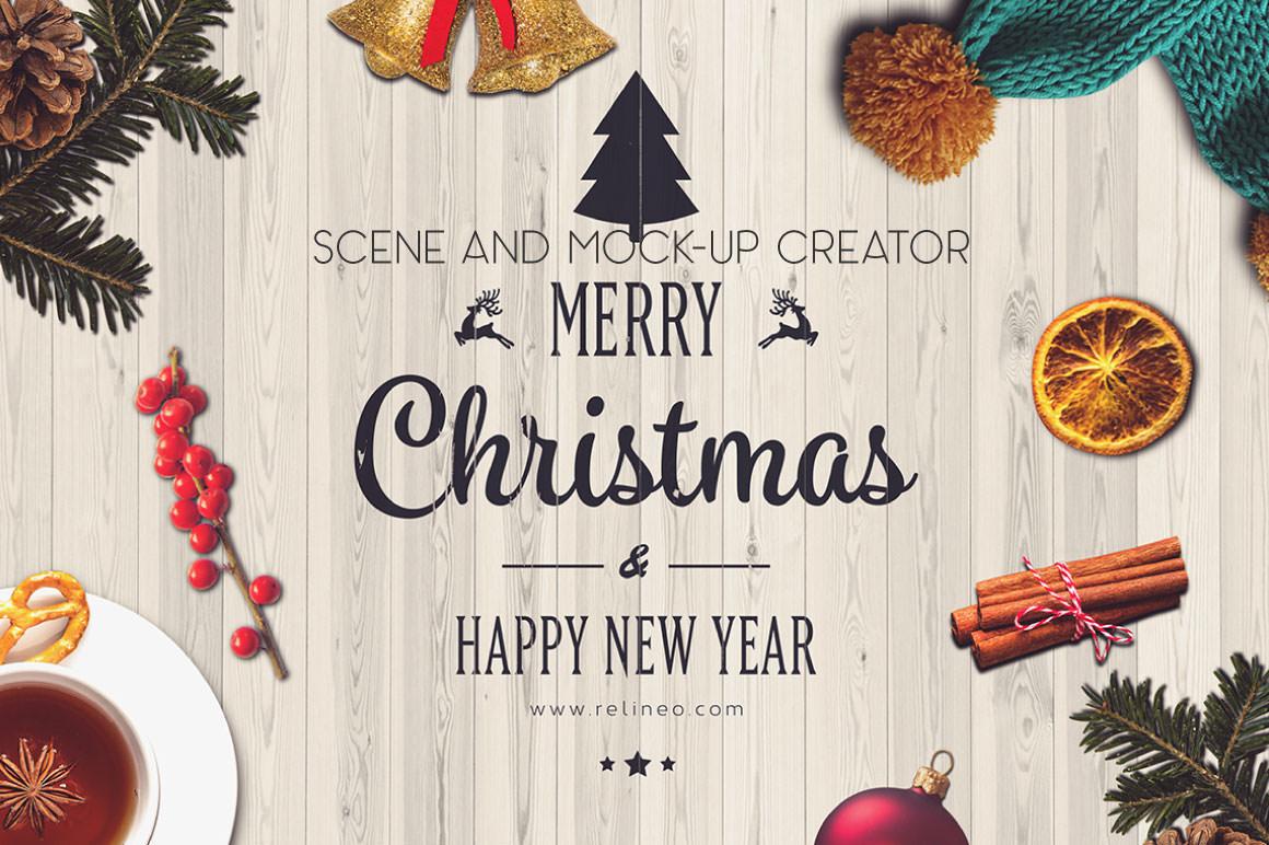 Christmas Scene and Mock up creator