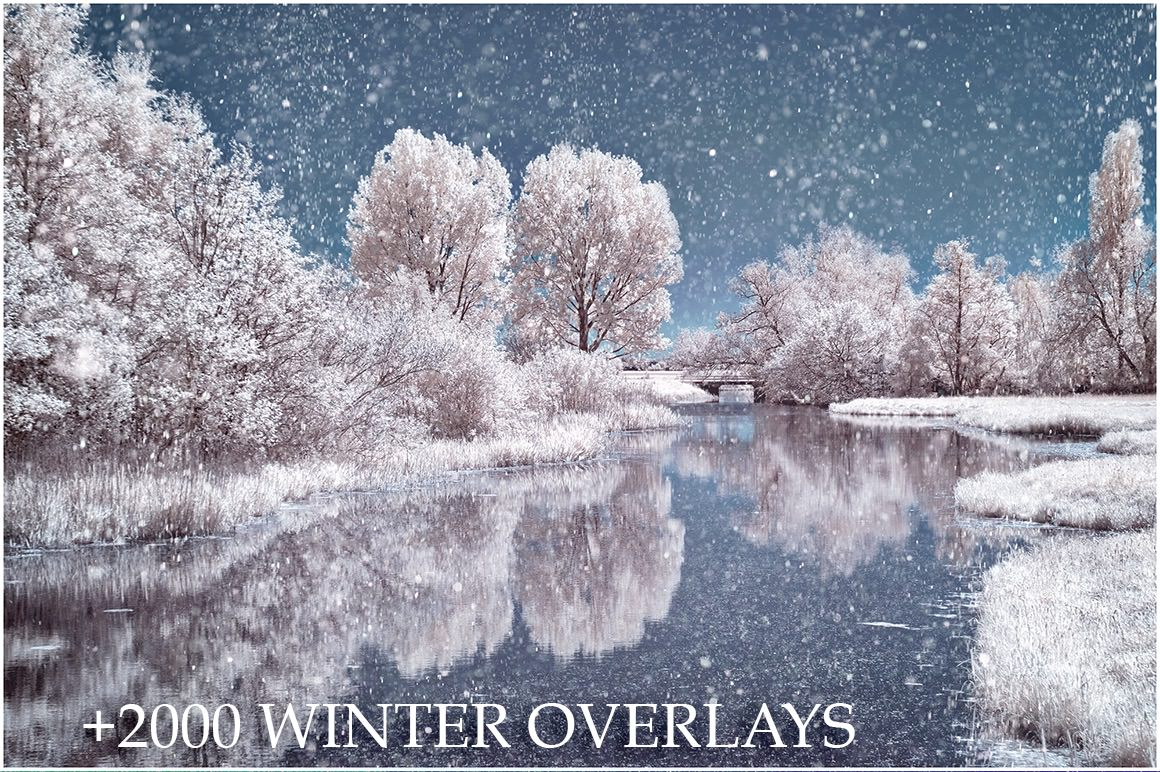 Winter Sparkles Overlays - 2000+ Overlays for only $13