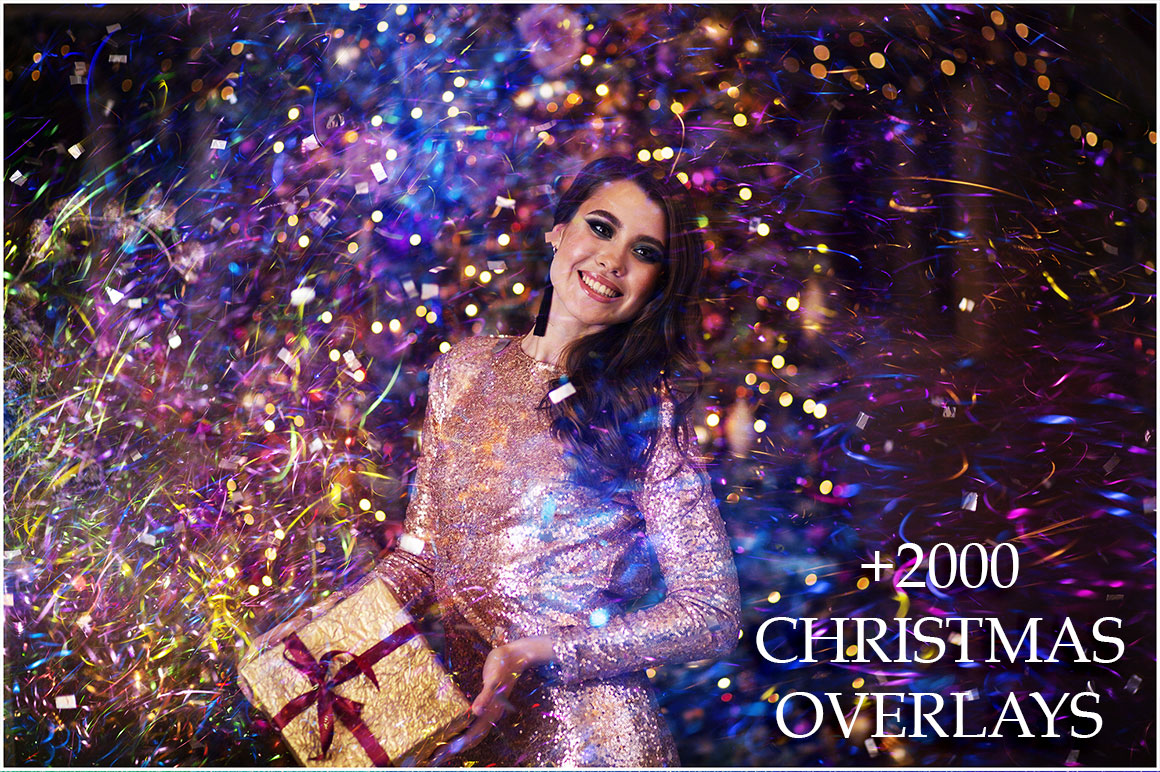 Christmas Lights Overlays - 2090 Overlays for only $13