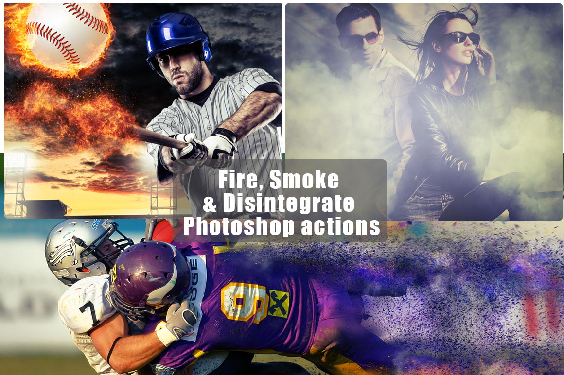 Photoshop Unique Fire, Smoke & Disintegrate Actions – 80% Off