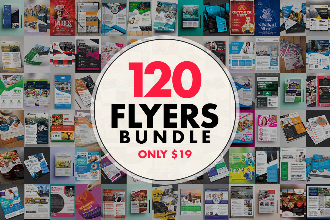 120 Flyer Templates Bundle with Extended License