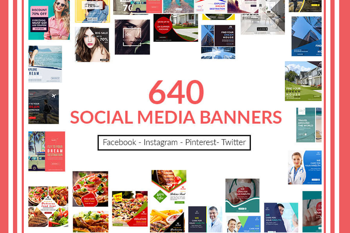 600+ Multi-Purpose Social Media Banners - only $15