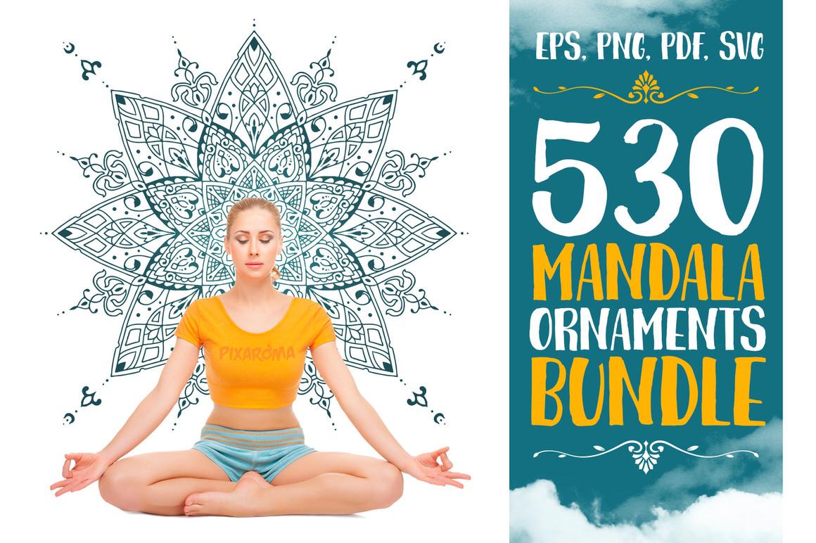 Get 530 Vector Mandala Ornaments Bundle for only $8
