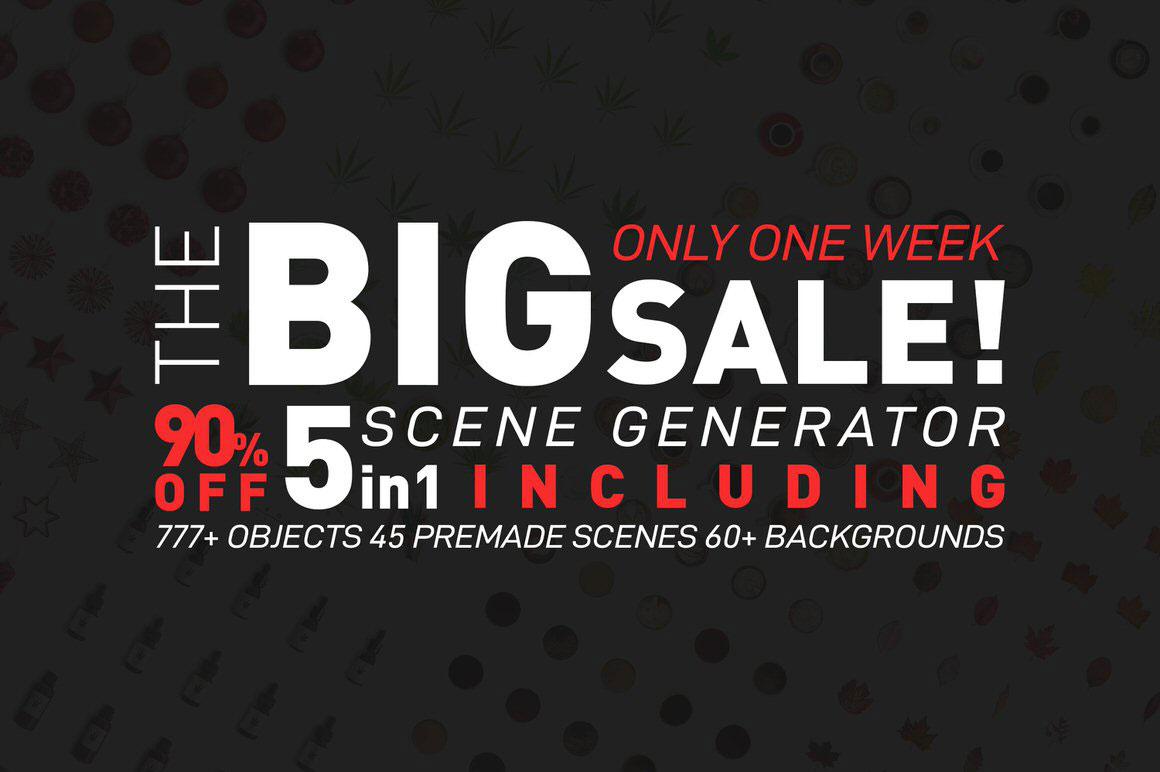Mega Big Pack Scene Generator - 5 in 1