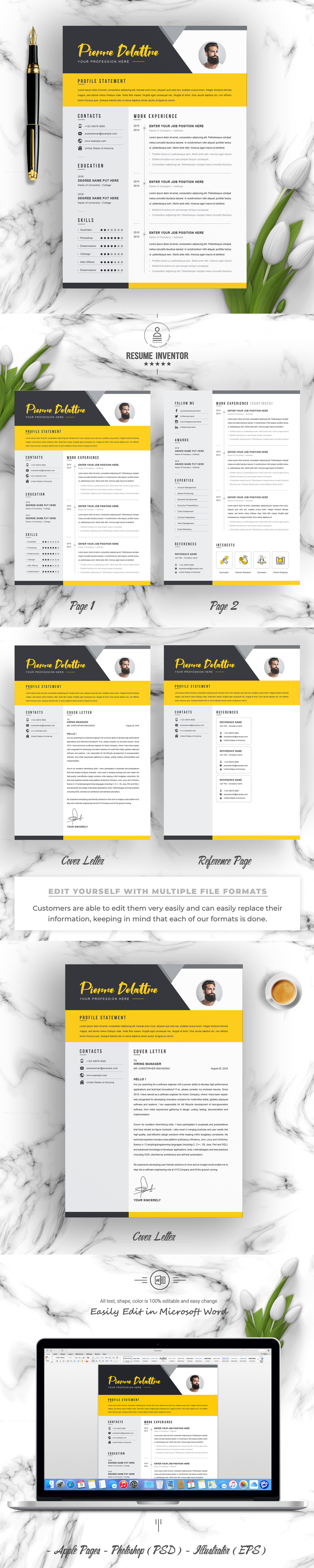 resume    cv template bundle