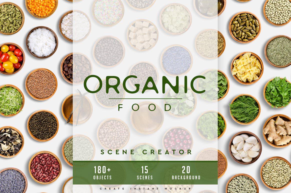 Organic Food Scene Creator