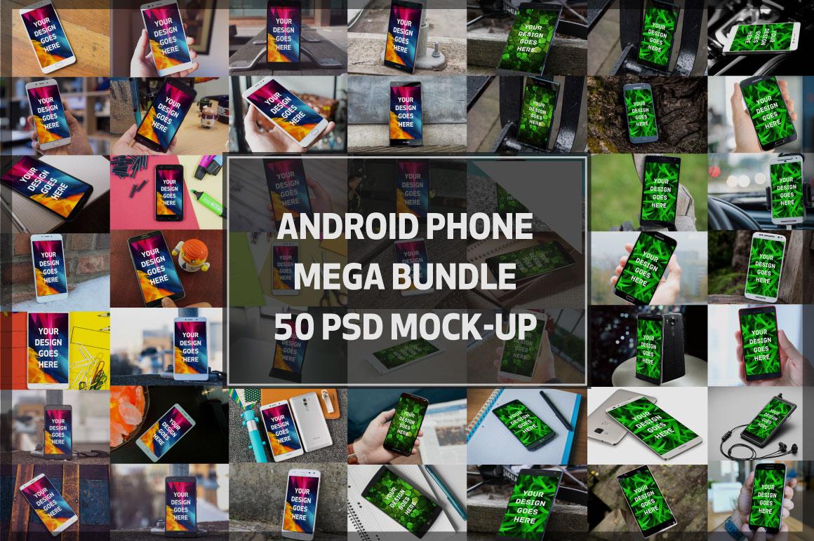 Android Phone Display Mockups Bundle