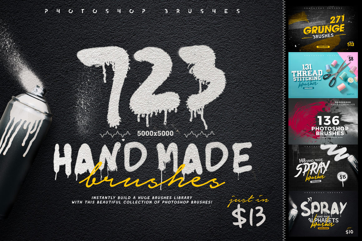 Get 723 Hand Made Brushes for only $13