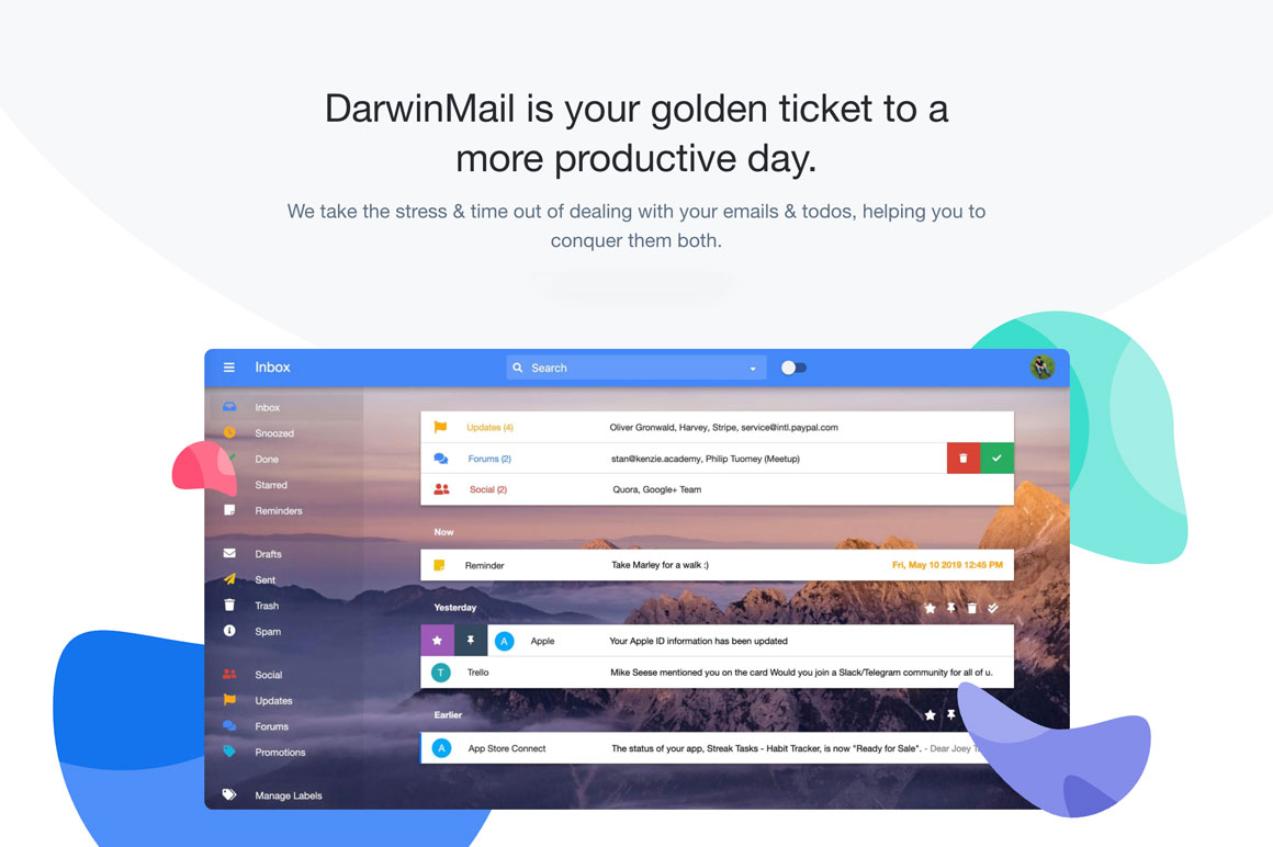 Lifetime access to DarwinMail