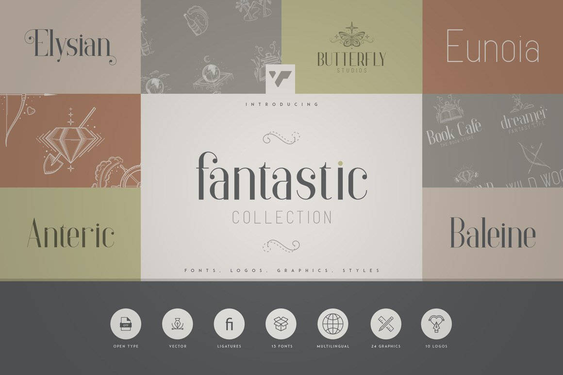 Fantastic Collection - Fonts, Logos and Layer Styles