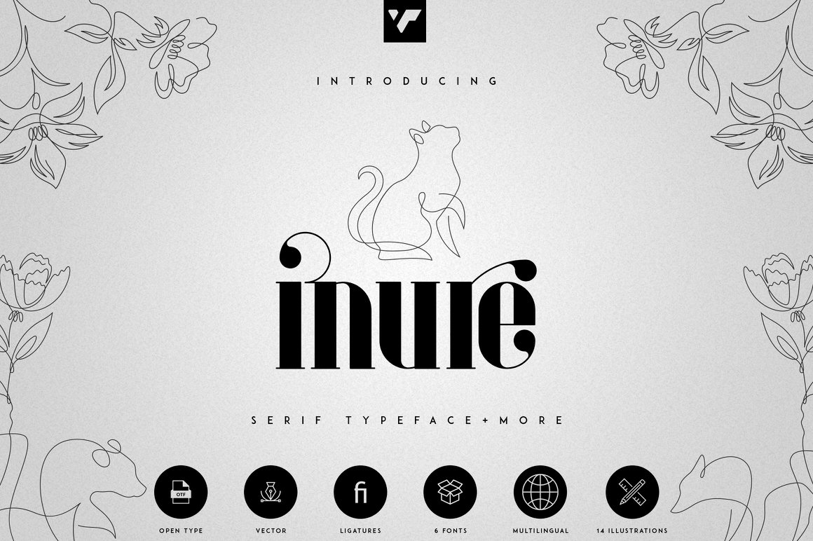 Inure - Serif Typeface + Extras