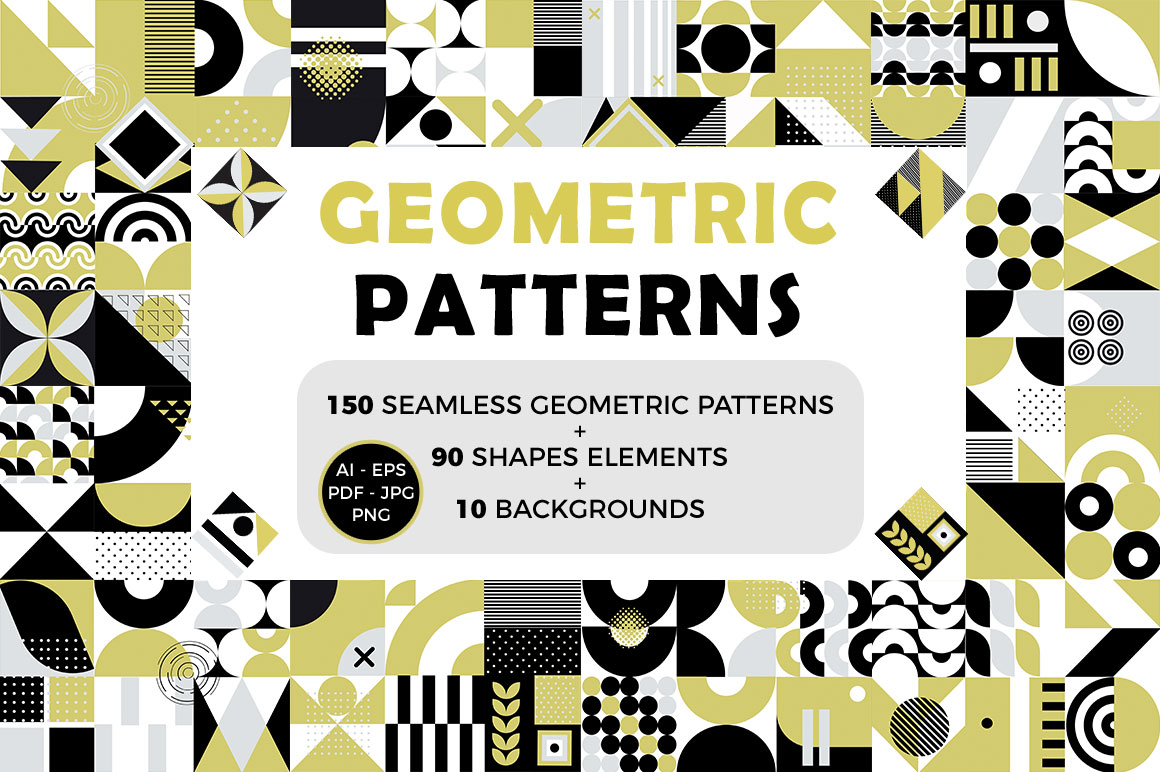240+ Stunning Seamless Geometric Patterns
