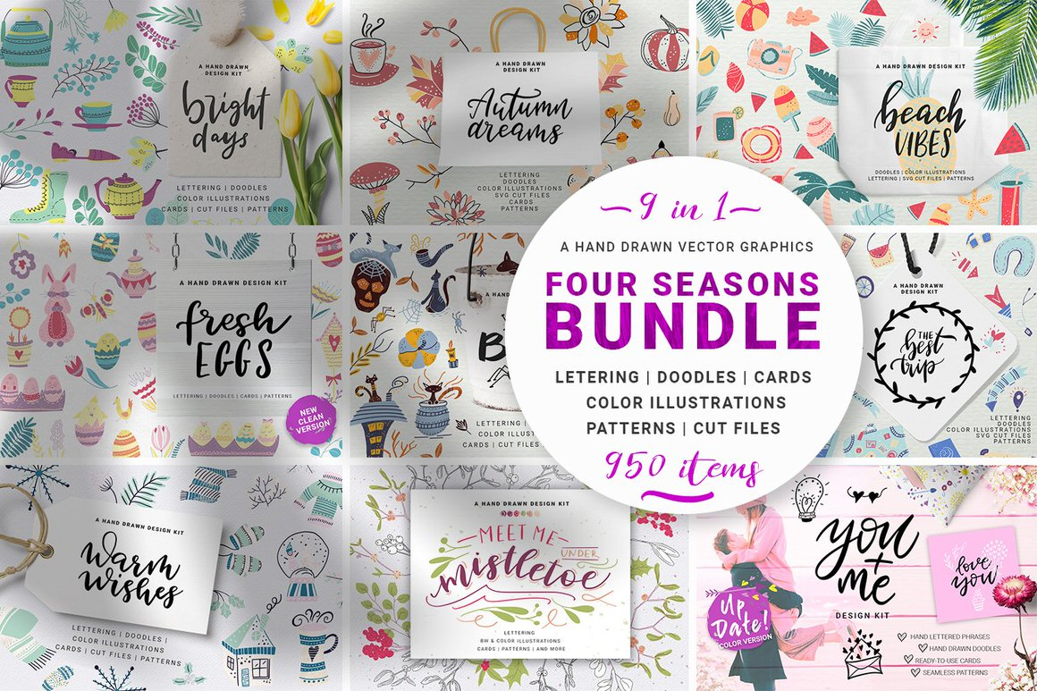 Four Seasons - Vector Graphic Bundle