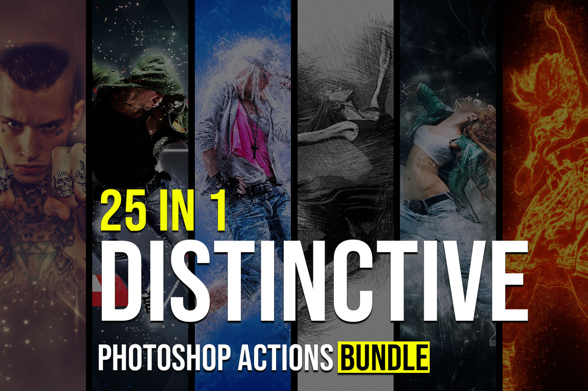 25 In 1 Outstanding Photoshop Actions