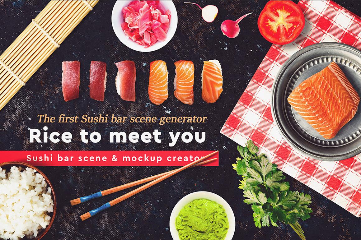 Sushi Bar Scene and Mock-up Creator