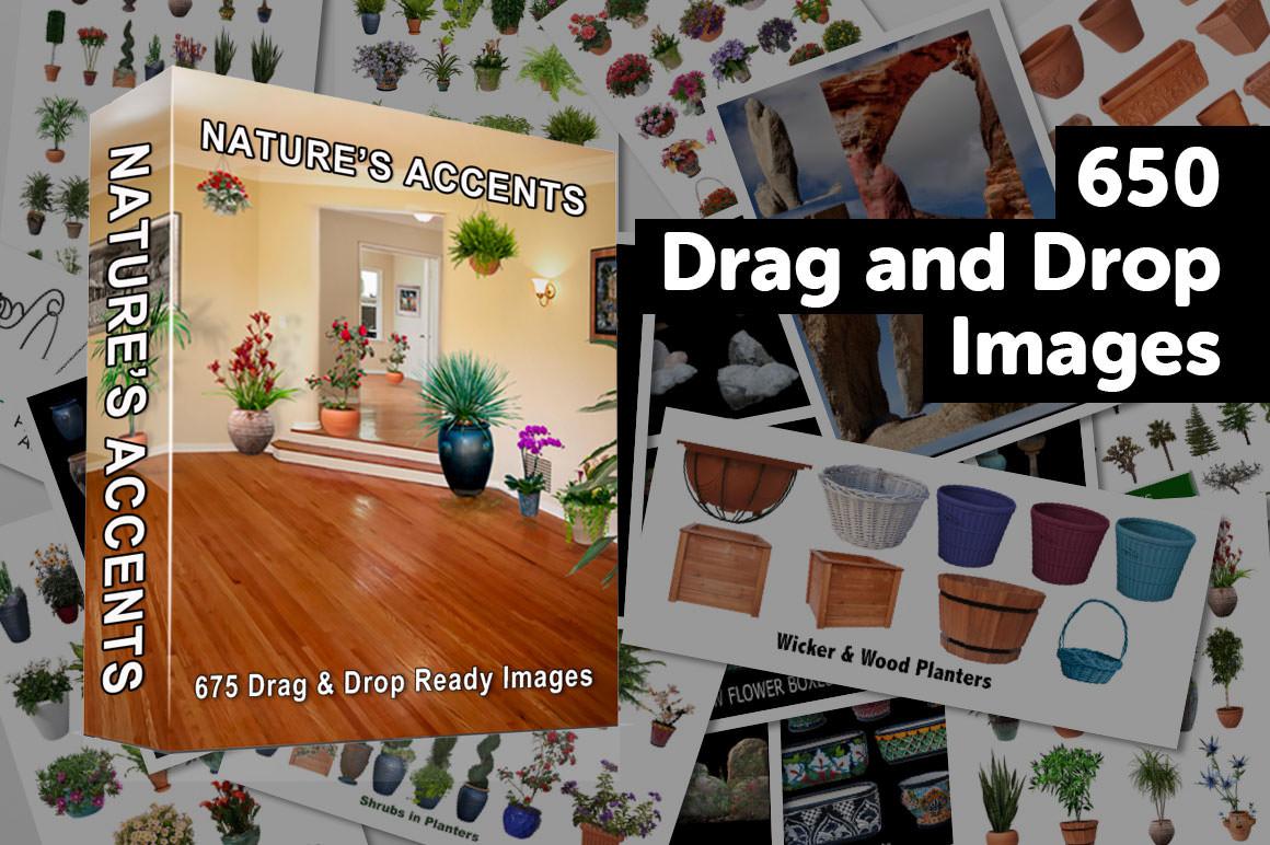 650 Drag and Drop Landscape Essentials - Nature's Accents